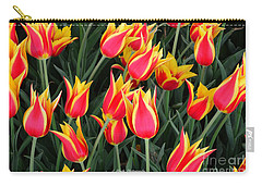 Cheerful Spring Tulips Carry-all Pouch