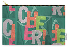 Carry-all Pouch featuring the photograph Cheers Cheerful Text See On Tshirts Pillows Curtains Towels Duvet Covers Phones Christmas Holidays  by Navin Joshi