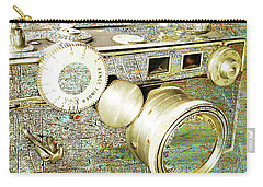 Carry-all Pouch featuring the mixed media Cheese by Tony Rubino