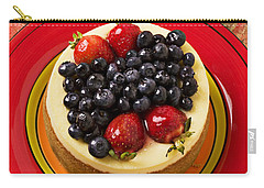 Cheesecake On Red Plate Carry-all Pouch