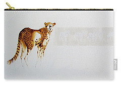 Cheetah And Zebras Carry-all Pouch