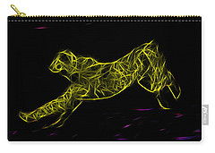 Cheetah Body Built For Speed Carry-all Pouch by Miroslava Jurcik
