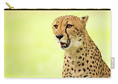 Cheetah Close-up Website Banner Carry-all Pouch