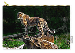 Cheetah Cub Finds Her Pride Rock Carry-all Pouch by Miroslava Jurcik