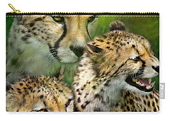 Cheetah Moods Carry-all Pouch by Carol Cavalaris