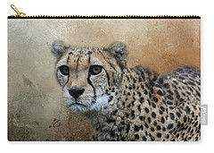 Cheetah Portrait Carry-all Pouch by Eva Lechner