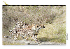 Carry-all Pouch featuring the photograph Cheetah Trot 2 by Fraida Gutovich