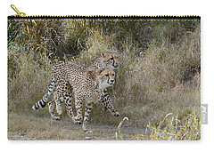 Carry-all Pouch featuring the photograph Cheetah Trot by Fraida Gutovich