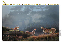 Cheetahs In The Mist Carry-all Pouch