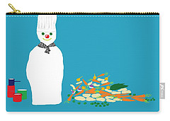 Chef Snowman Carry-all Pouch by Barbara Moignard