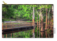Carry-all Pouch featuring the photograph Cheniere Lake Bayou Dock by Ester Rogers