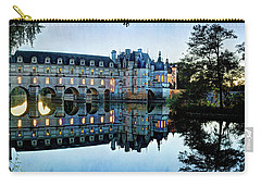 Chenonceau Twilight In Blue - Vintage Version Carry-all Pouch