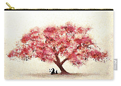 Cherry Blossom And Panda Carry-all Pouch