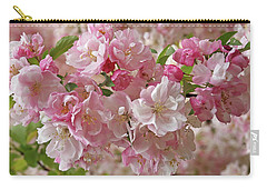 Cherry Blossom Closeup Carry-all Pouch by Gill Billington