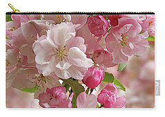 Cherry Blossom Closeup Vertical Carry-all Pouch by Gill Billington