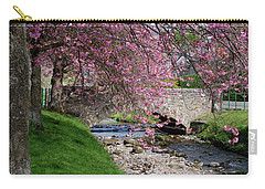 Carry-all Pouch featuring the photograph Cherry Blossom In Central Scotland by Jeremy Lavender Photography