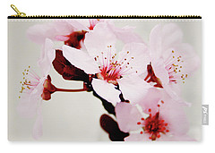 Carry-all Pouch featuring the mixed media Cherry Blossoms 1- Art By Linda Woods by Linda Woods