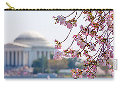Cherry Blossoms And Jefferson Memorial Carry-all Pouch