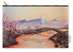 Cherry Blossoms In The Mist - Revisited Carry-all Pouch