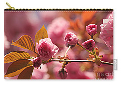 Cherry Blossoms Carry-all Pouch by Judy Palkimas