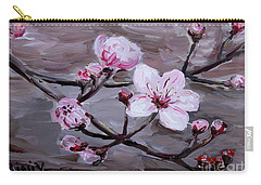Carry-all Pouch featuring the painting Cherry Blossoms by Maria Langgle