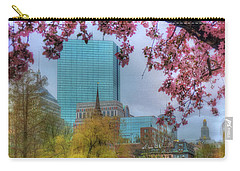 Carry-all Pouch featuring the photograph Cherry Blossoms Over Boston by Joann Vitali