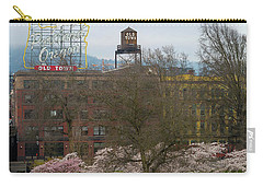 Cherry Blossoms Trees In Portland Old Town Carry-all Pouch