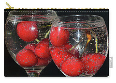 Carry-all Pouch featuring the photograph Cherry In Glass by Elvira Ladocki