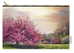 Carry-all Pouch featuring the photograph Cherry Orchard Hill by Jessica Jenney