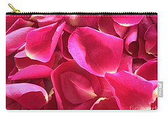 Cherry Pink Rose Petals Carry-all Pouch