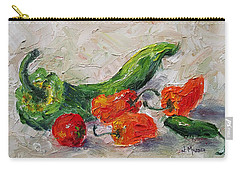 Cherry Tomato And Chiles Carry-all Pouch by Jill Musser