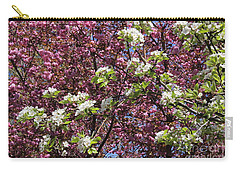 Cherry Tree And Pear Blossoms Carry-all Pouch