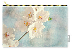 Cherry Blossom Mixed Media Carry-All Pouches
