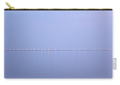 Carry-all Pouch featuring the photograph Chesapeake Bay Bridge Tunnel At Twilight by Suzanne Powers