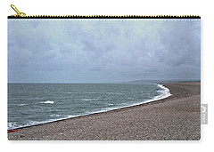 Chesil Beach November 2013 Carry-all Pouch by Anne Kotan
