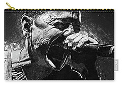 Carry-all Pouch featuring the photograph Chester Bennington by Taylan Apukovska