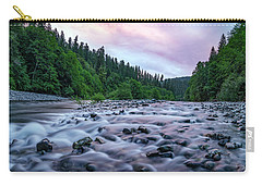 Chetco River Sunset 2 Carry-all Pouch by Leland D Howard