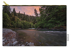 Carry-all Pouch featuring the photograph Chetco River Sunset by Leland D Howard
