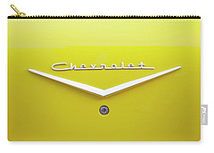 Chevrolet Bel Air In Yellow Carry-all Pouch by Toni Hopper