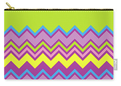 Chevron Bright Green Yellow Blue Purple Zigzag Pattern Carry-all Pouch
