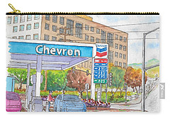 Chevron Gasoline Station In Olive And Buena Vista, Burbank, California Carry-all Pouch