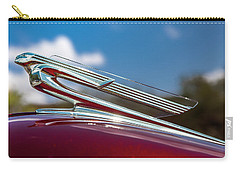 Carry-all Pouch featuring the photograph Chevy Flying Lady by Melinda Ledsome