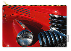 Chevy Red Carry-all Pouch by Linda Bianic