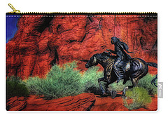 Cheyenne War Pony And Warrior  ... Carry-all Pouch