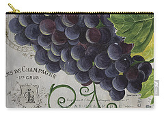 Vins De Champagne 2 Carry-all Pouch by Debbie DeWitt