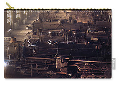 Carry-all Pouch featuring the painting Chicago And North Western Railroad Locomotive Shops At Chicago by Artistic Panda