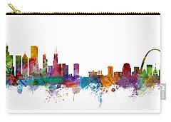 Chicago And St Louis Skyline Mashup Carry-all Pouch