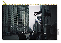 Chicago City Fog Carry-all Pouch by Frank J Casella