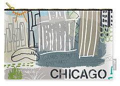 Chicago Cityscape- Art By Linda Woods Carry-all Pouch