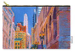 Chicago Cityscape With The Mather Tower Carry-all Pouch